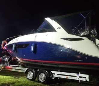 Skwierzyna. Luksusowa łódź tonęła na Warcie