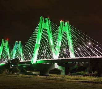 Nowy most na obwodnicy Krakowa z przepiękną iluminacją [ZDJĘCIA]
