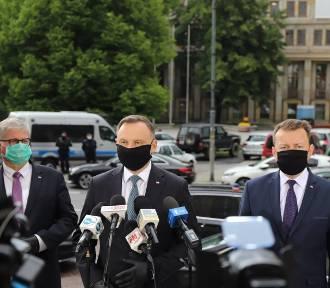 Andrzej Duda w Katowicach: Sytuacja na Śląsku jest opanowana