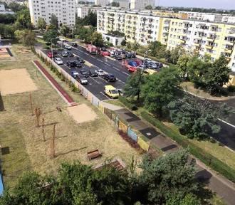 Kolizja czterech aut na Rubinkowie