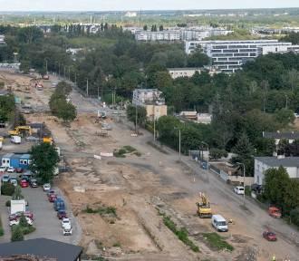 Tak wygląda z góry budowa trasy tramwajowej na Naramowice
