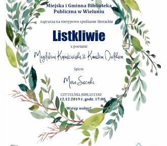 Wieluńska biblioteka zaprasza na spotkanie z poetami Magdaleną Kapuścińską i Kamilem Dudkiem