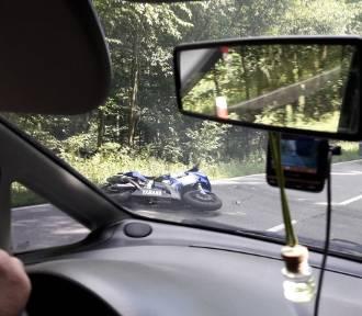 """Śmiertelny wypadek na """"trójce"""". Motocyklista wjechał w sarnę"""
