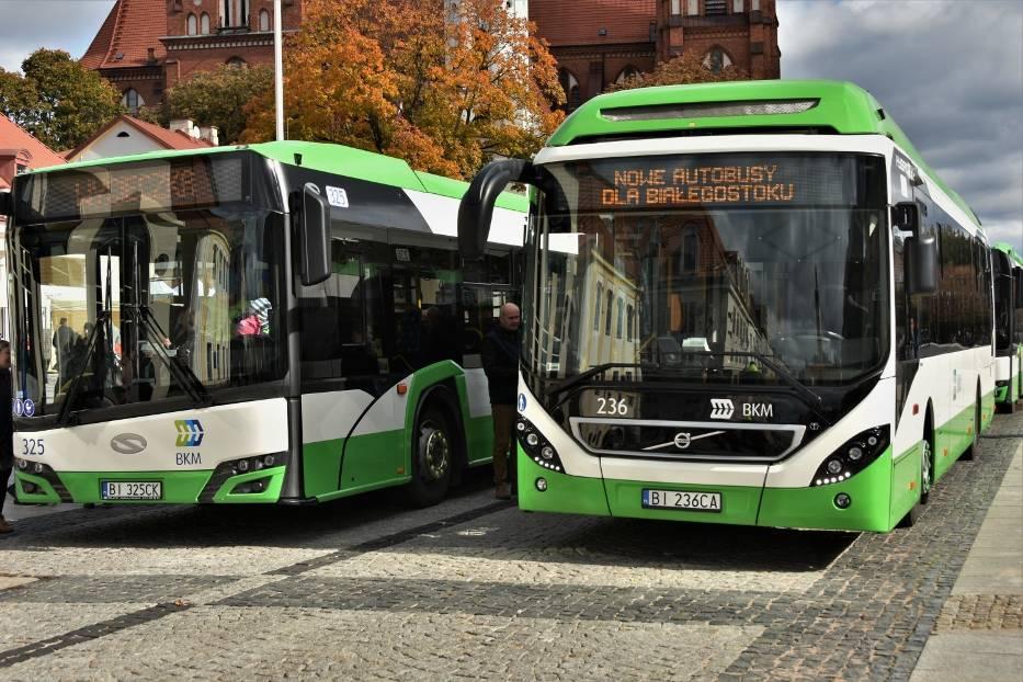 Piętnaście nowych autobusów komunikacji miejskiej w Białymstoku