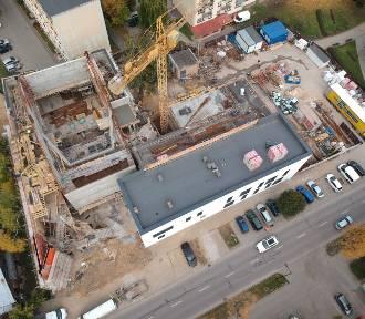 Zobacz budowę BDK w Bielsku z lotu drona [zdjęcia]