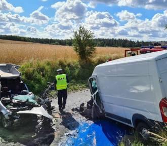 Wypadek w Radomnie w Gminie Nowe Miasto Lubawskie - powiat nowomiejski. Cztery osoby ranne. Zobaczcie