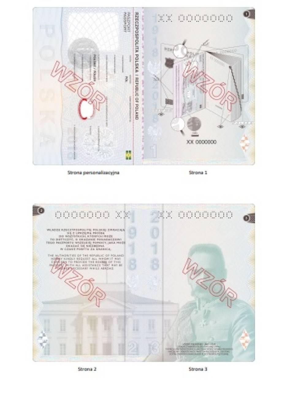 Nowe paszporty - ruszyło przyjmowanie wniosków. Na ilustracjach m.in. Bitwa Warszawska