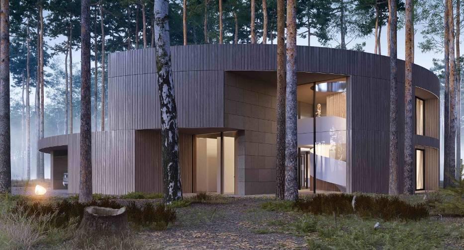 Wyjątkowy dom w sąsiedztwie Puszczy Kampinoskiej. Wygląda jak wyciosany w pniu