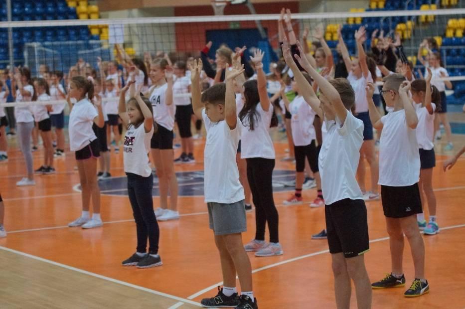 Lekcja siatkówki z zawodniczkami Energa MKS Kalisz