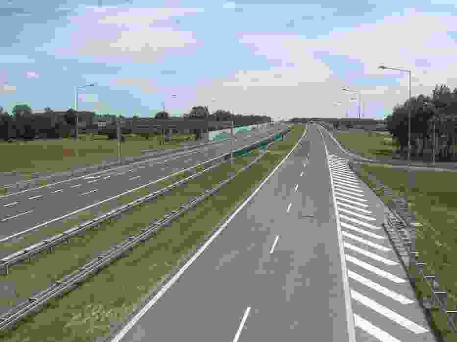 Na zdjęciu: Autostrada A2 w okolicach węzła Emilia