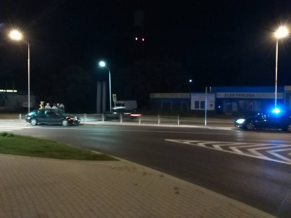 Wypadek na pasach koło Biedronki na Podzamczu