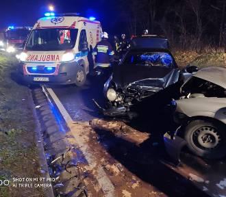 Wypadek w Wylatowie. Jedna osoba trafiła do szpitala