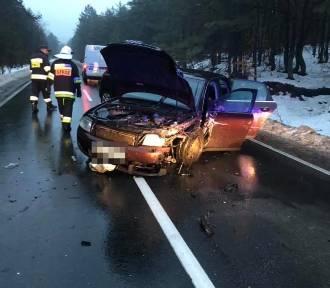 Trzy samochody zderzyły się koło wsi Rodaki w powiecie olkuskim