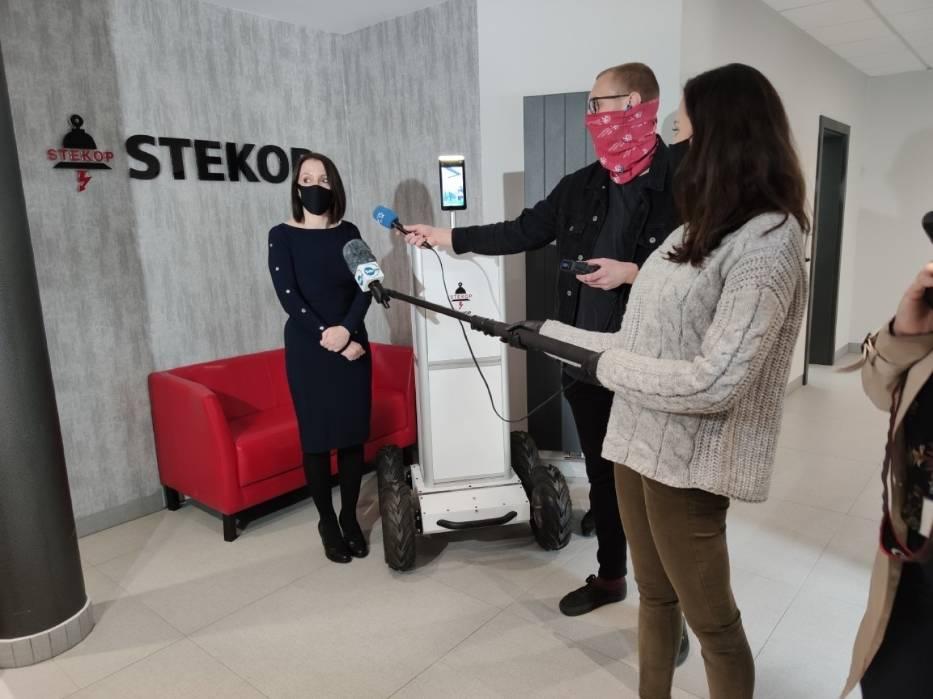 Przedstawiciele firmy Stekop opowiedzieli w piątek o możliwościach robota