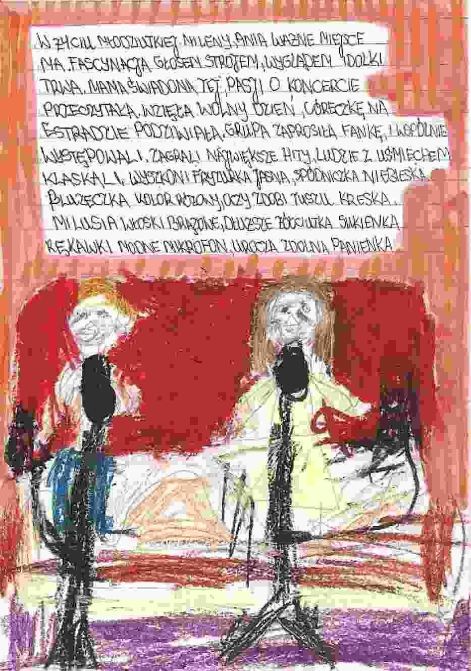 ten obraz został wykonany przez Dziewczynkę  niepełnosprawnią 16 latkę z wierszami Don kichotki  powstały w Łajskach
