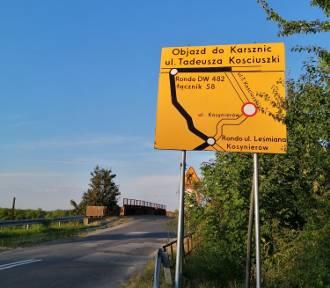 Droga Karsznice - Ostrówek w przebudowie. Którędy objazdy?