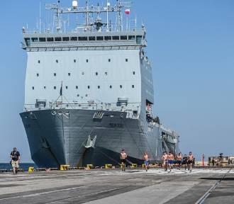 Brytyjski okręt desantowy RFA Mounts Bay przypłynął do Gdyni ZDJĘCIA