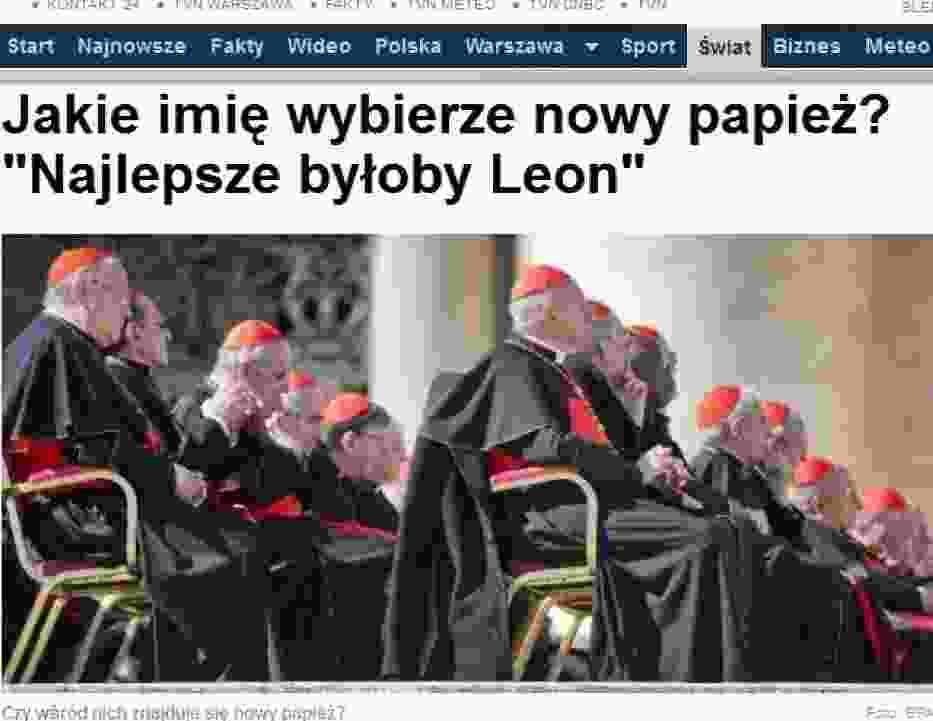 Jakie imię wybierze nowy papież? - tvn