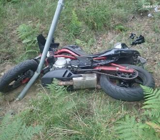 Zderzenie dwóch motocyklistów pod Żarkami