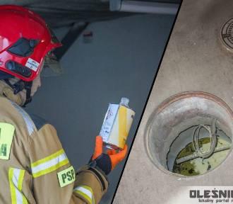 Wybuch chemikaliów w garażu podziemnym