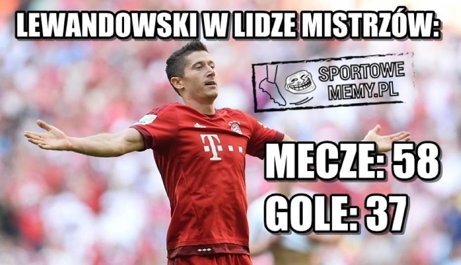 Robert Lewandowski, memy. Internet komentuje gola Lewego i ciążę jego żony [MEMY]