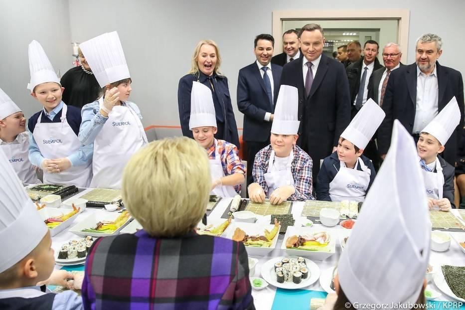 W środę do bielskiego Suempolu z krótką wizytą przyjechała para prezydencka