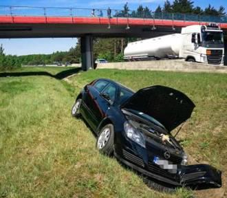 Wypadek na S1 w Mierzęcicach. Zderzyły się dwa samochody [ZDJĘCIA]