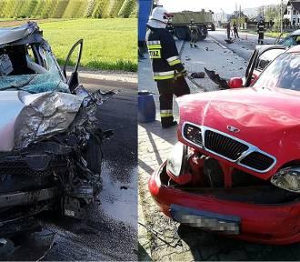 Groźny wypadek pod Mszaną Dolną. Trzy osoby ranne. Jedna walczy o życie