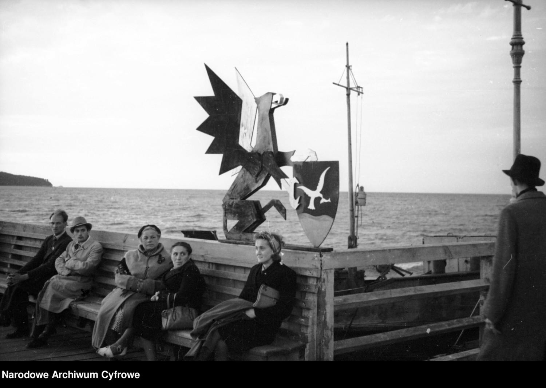 Molo w Sopocie 1945