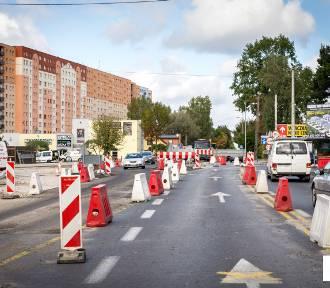 W okolicach przebudowywanego skrzyżowania w Bełchatowie znów jeździmy inaczej