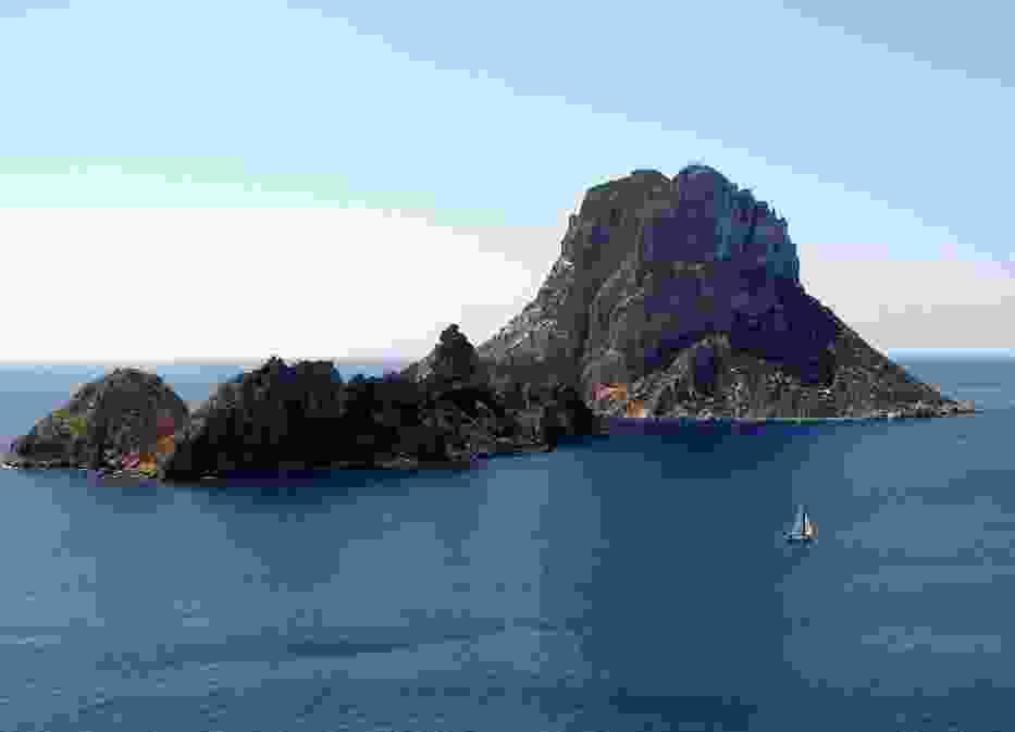 Wyspy Es Vedra po prawej i Es Vedranell po lewej