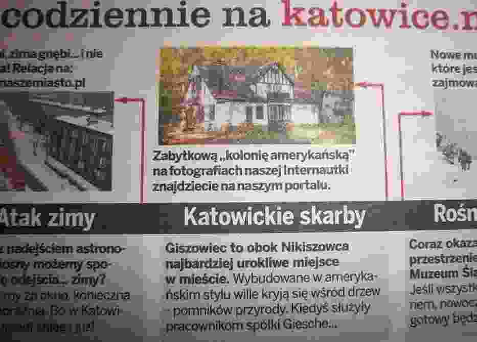 """Fragment strony 7 """"Kocham Katowice"""" Tygodnik Miejski z dnia 22 marca 2013"""