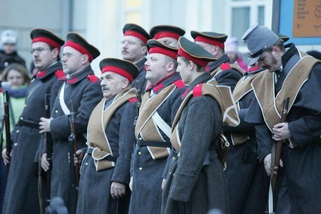 Bitwa o dworzec w Sosnowcu w czasie inscenizacji