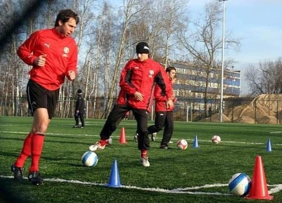 Trening piłkarzy Widzew Łódź