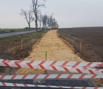 II etap budowy ścieżki rowerowej Stary Widzim - Wroniawy