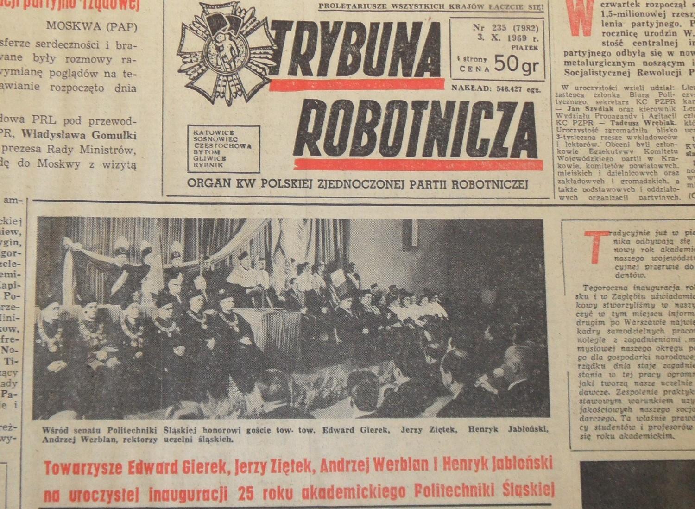 Trybuna Robotnicza z 3 XII 1969: Edward Gierek razem z gen
