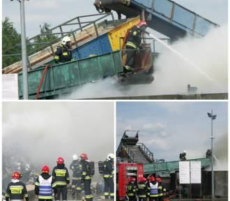 Pożar śmieci w Punkcie Przeładunku Odpadów przy ul. Ceglarskiej w Krotoszynie! [ZDJĘCIA]