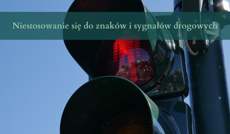 Niestosowanie się do znaków i sygnałów drogowych8 punktów karnych: - Niezastosowanie się, w celu uniknięcia kontroli, do sygnału osoby uprawnionej do kontroli ruchu drogowego, nakazującego zatrzymanie pojazdu