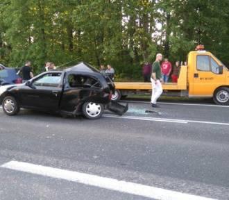 Wypadek na DK 78 w Porębie. Są ranni [FOTO]