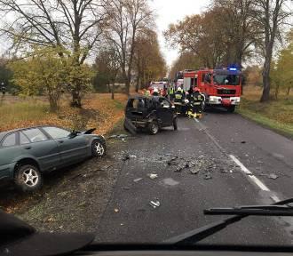 Wypadek w Stanisławowie Drugim. Zmarł kierowca smarta AKTUALIZACJA