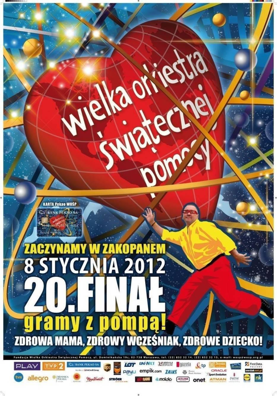 XX Finał Wielkiej Orkiestry Świątecznej Pomocy - plakat