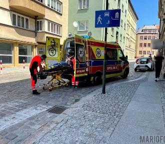 Dostawca jedzenia potrącił pieszego w Opolu
