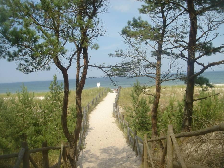 Wejście na plażę nad Bałtykiem 8 sierpnia 2007 r