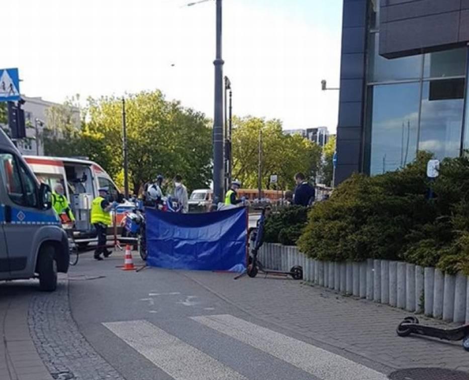 Dramatyczne sceny rozegrały się w czwartkowe popołudnie na skrzyżowaniu marszałków w Łodzi