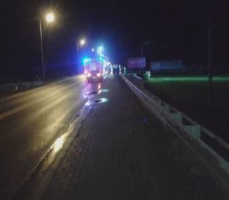 Kolizja w Wielowsi - auto wypadło z drogi, kierowca kompletnie pijany