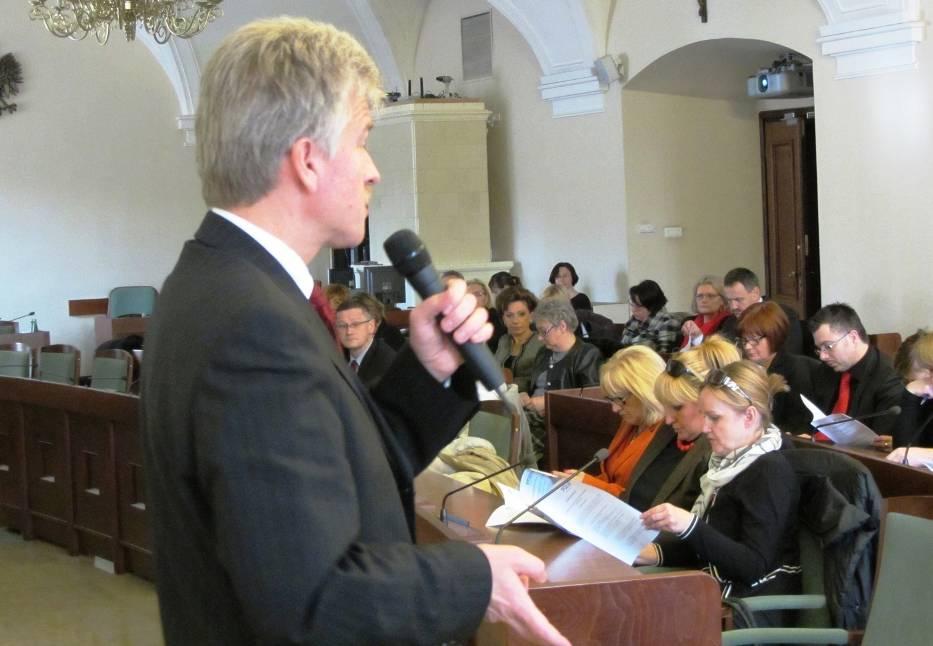 W grudniu Ryszard Grobelny spotkał się z dyrektorami gimnazjów