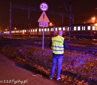 Kobieta potrącona przez pociąg w Tychach FOTO