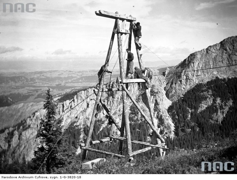 Budowa kolejki na Kasprowy Wierch