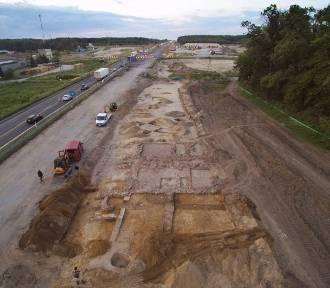 Zdjęcia lotnicze z budowy autostrady A1 w Łódzkiem