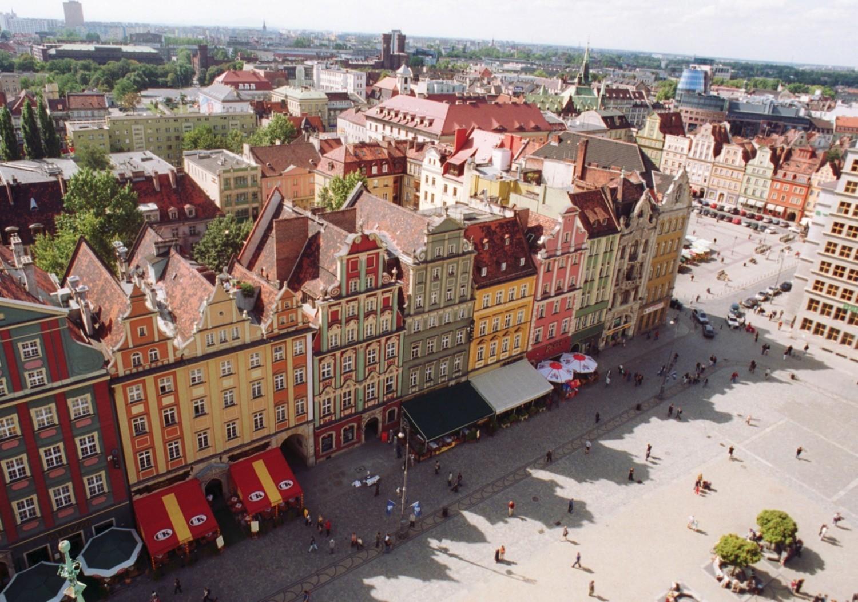 Tajemnicze nocne miasto Wrocław